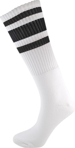 SOCCO KNEE HIGH WHT/BLK SOCKS(6-9)1pair