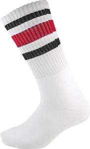 SOCCO CREW WHT/BLK/RED SOCKS (9-12) 1pair