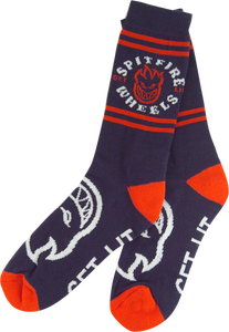 SPITFIRE CLASSIC BIGHEAD CREW SOCKS NAVY/RED 1 pair