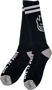 SPITFIRE HEADS UP CREW SOCKS BLK/GREY 1 pair