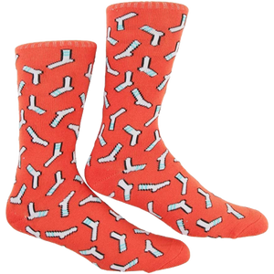 SKATE MENTAL SOCK CREW SOCKS RUST RED single pair
