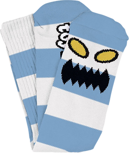 TOY MACHINE MONSTER BIG STRIPE CREW SOCKS LT.BLUE 1pr