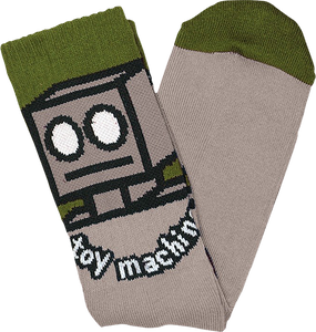 TOY MACHINE ROBOT CREW SOCKS SAND 1pr