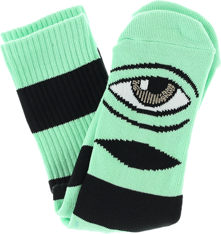 TOY MACHINE SECT EYE BIG STRIPE CREW SOCKS-MINT 1pr