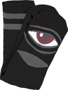 TOY MACHINE SECT EYE III CREW SOCKS-BLACK 1 pair