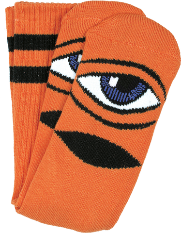 TOY MACHINE SECT EYE III CREW SOCKS-ORANGE 1 pair