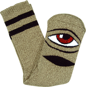 TOY MACHINE SECT EYE HEATHER CREW SOCKS-GREEN 1pr