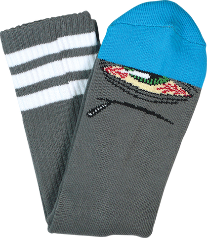 TOY MACHINE STONER SECT CREW SOCKS-GREY/BLUpr