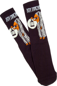 TOY MACHINE STAIRWAY CREW SOCKS-BLACK 1 pair