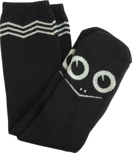 TOY MACHINE TURTLE FACE KNEE SOCKS BLACK 1 pair