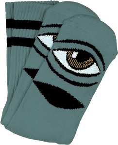 TOY MACHINE SECT EYE CREW SOCKS SAGE 1pr