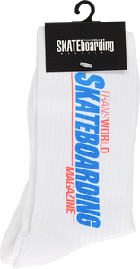 TRANSWORLD RETRO LOG CREW SOCKS WHITE 1pr