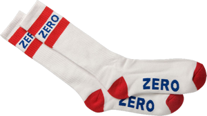 ZERO ARMY KNEE HI SOCKS-WHT/RED/BLU single pair