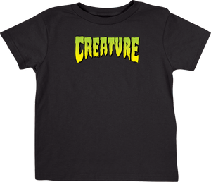 CREATURE LOGO TODDLER TEE 4T-BLACK