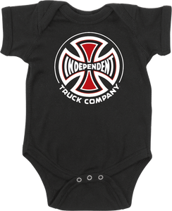 INDEPENDENT TRUCK CO ONESIE 6M-BLACK