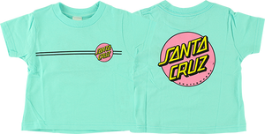 SANTA CRUZ OTHER DOT TODDLER TEE 7-CHILL TEAL/PINK