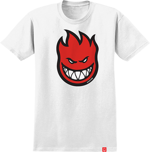 SPITFIRE BIGHEAD FILL YTH SS TEE S-WHT/RED