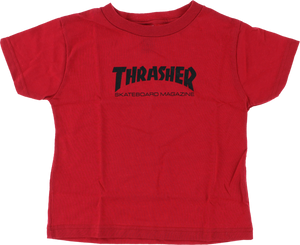 THRASHER MAG LOGO TODDLER SS 5-6T RED/BLK