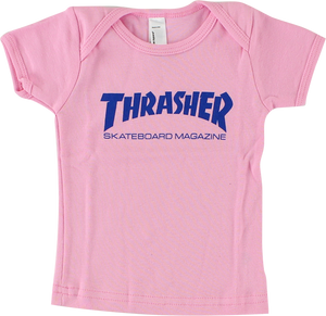 THRASHER MAG LOGO INFANT SS S-PINK/BLU (6-12mos)