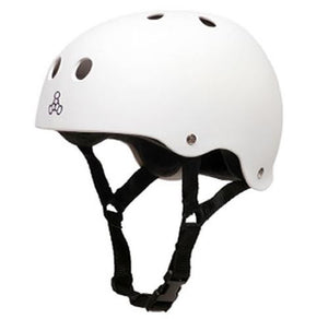 Triple 8 Helmet: Brainsaver Rubberized White