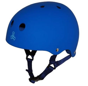 Triple 8 Helmet: Brainsaver Rubberized Blue