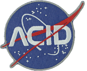 ACID SPACE PATCH NAVY 3""