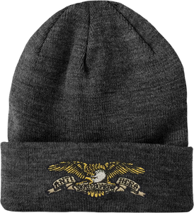 ANTI HERO EAGLE CUFF BEANIE CHARCOAL HEATHER