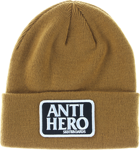 ANTI HERO RESERVE PATCH CUFF BEANIE BROWN