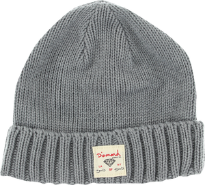 DIAMOND CITY CUFF BEANIE HEATHER GREY