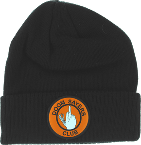 DOOM SAYERS UP YOURS BEANIE BLK/ORG