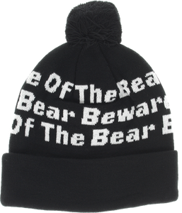 GRIZZLY BOTB POM BEANIE BLACK
