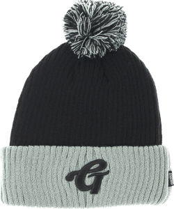 GRIZZLY HIGH GRADE POM BEANIE BLK/GREY