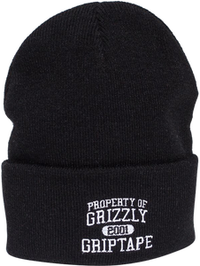 GRIZZLY PROPERTY OF GRIZZLY BEANIE BLACK