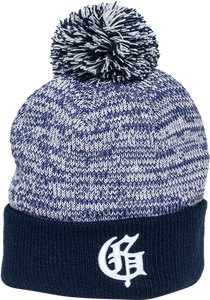 GRIZZLY SQUAG G SPECKLED POM BEANIE NAVY
