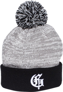 GRIZZLY SQUAG G SPECKLED POM BEANIE BLACK
