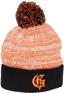 GRIZZLY SQUAG G SPECKLED POM BEANIE ORANGE