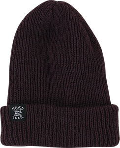 HARD LUCK OG WOVEN BEANIE DARK PURPLE
