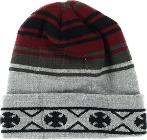 INDE HIGH PLAINS BEANIE BLK/RED/GREY