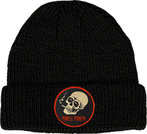 PWL/P SMOKING SKULL BEANIE BLACK