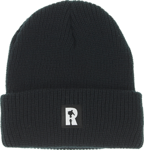 REAL SKATEBOARDS LABEL CUFF BEANIE BLACK