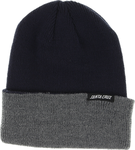 SC SC STRIP BEANIE NAVY/HEATHER GREY