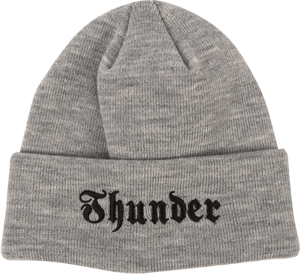 THUNDER TRUCKS EVIL EMBLEM CUFF BEANIE HEATHER GREY/BLK