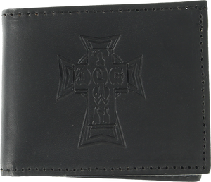 DOGTOWN LEATHER BILLFOLD WALLET BLACK