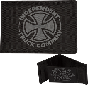 INDEPENDENT FTR BI-FOLD WALLET BLACK