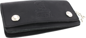SUICIDAL LOGO LEATHER CHAIN WALLET BLACK