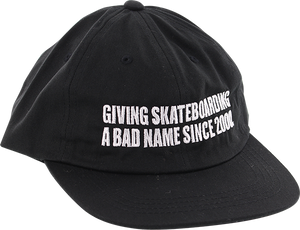 BAKER SKATEBOARDS BAD NAME HAT ADJ-BLACK