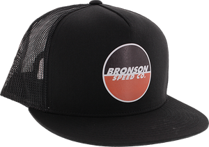 BRONSON SPEED CO. LOGO MESH HAT ADJ-BLK