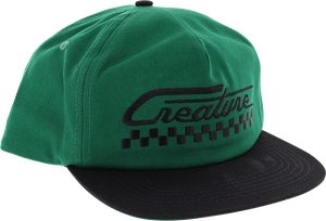 CREATURE GREASE MONKEY HAT ADJ-DARK GRN/BLACK