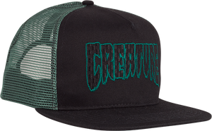 CREATURE LOGO CHECK MESH HAT ADJ-BLK/KELLY GREEN