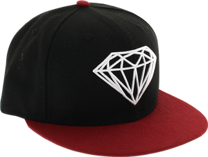 DIAMOND BRILLIANT HAT 7-1/8 RED/BLK